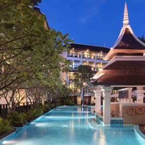Thailand Honeymoon Packages Centara Anda Dhevi Resort & Spa Krabi Swimming Pool At Night
