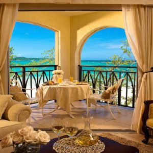 Jamaica Honeymoon Packages Sandals South Coast Beachfront Grande Luxe Club Level Suite1
