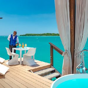 Jamaica Honeymoon Packages Sandals South Coast Over The Water Honeymoon Butler Bungalow2