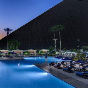 Las Vegas Honeymoon Packages Luxor Hotel & Casino Pool At Night