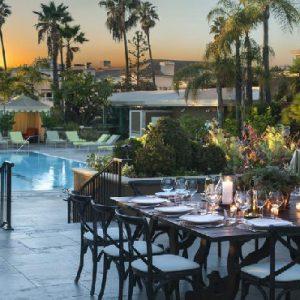 Los Angeles Honeymoon Packages Four Seasons Los Angeles Pool Area