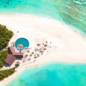 Maldives Honeymoon Packages Hondaafushi Island Resort Aerial View1