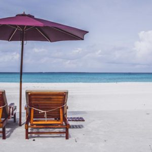 Maldives Honeymoon Packages Hondaafushi Island Resort Sun Loungers On Beach