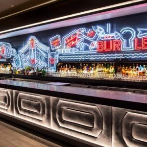 New York Honeymoon Packages W New York Times Square Bar Neon Living Area