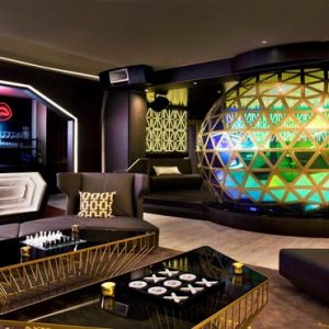 New York Honeymoon Packages W New York Times Square DJ Booth, Main Angle