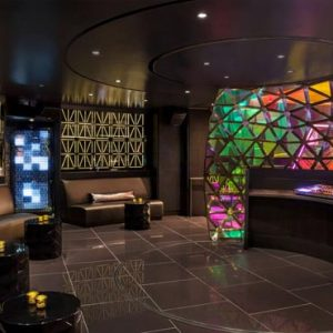 New York Honeymoon Packages W New York Times Square DJ Booth, Side Angle