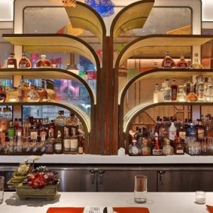 New York Honeymoon Packages W New York Times Square Dos Caminos Times Square Bar Area