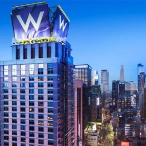 New York Honeymoon Packages W New York Times Square W Roof Sign