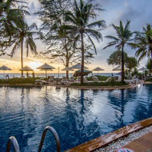 Phuket Honeymoon Packages Katathani Pool Sunset