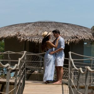 Phuket Honeymoon Packages TreeHouse Villas Couple Outside Villa