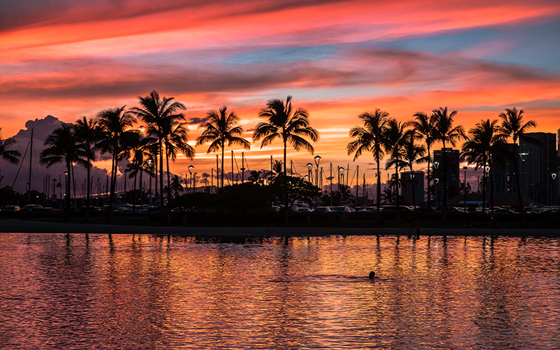 10 Best Places To See The Sun Set Around The World Blog Waikiki Beach, Hawaii