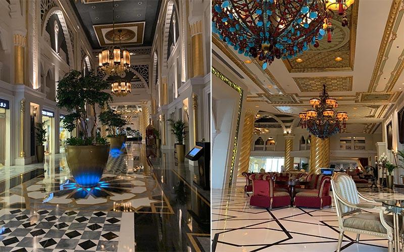Jagdish And Rav's Amazing Mauritius And Dubai Honeymoon Jumeriah Zabeel Saray Lobby