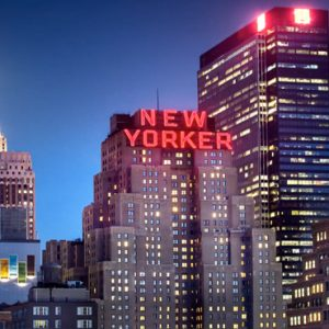 New York Honeymoon Packages The New Yorker A Wyndham Hotel Hotel Exterior At Night1