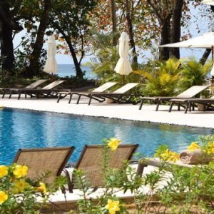 Seychelles Honeymoon Packages The H Resort Beau Vallon Beach Pool Loungers2