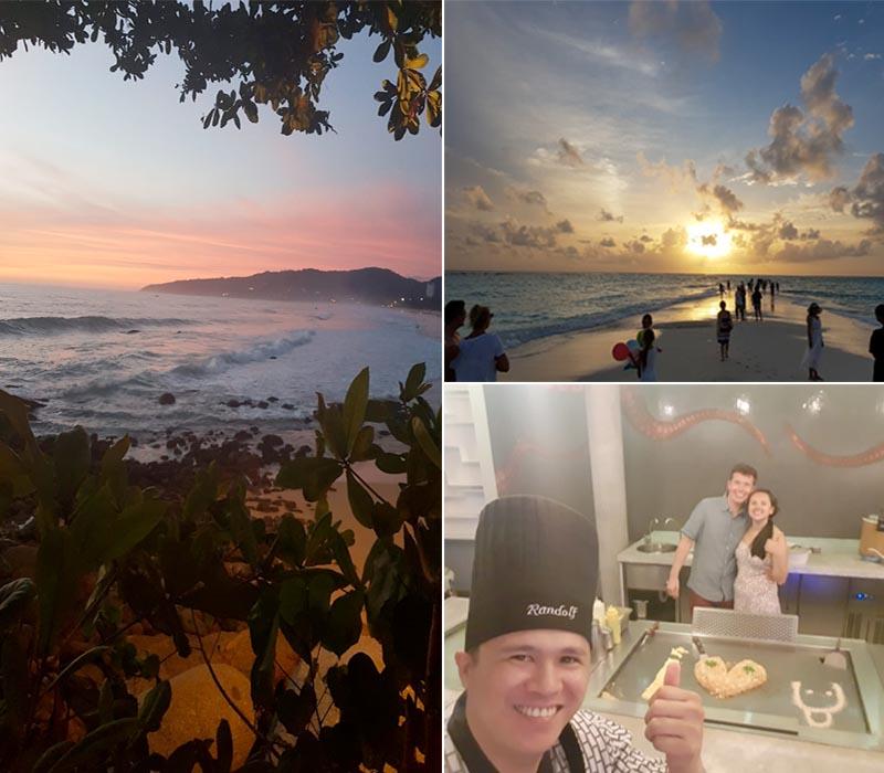 Susan And Lee's Fabulous Thailand And Maldives Honeymoon Marina Phuket Sunset And Restaurant