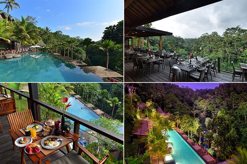 Top Infinity Pool In Bali Jungle Fish Pool Bar Andrestaurant