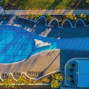 France Honeymoon Packages Beachcomber French Riviera Tennis Pool Aerial View