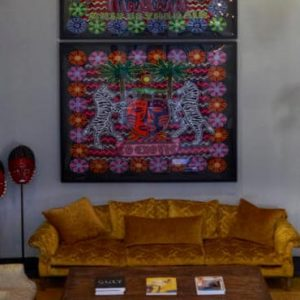 South Africa Honeymoon Packages The Silo Cape Town Electic Art In Hotel Lobby