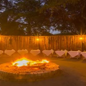 South Africa Honeymoon Packages Elandela Private Game Reserve Dining By Pit