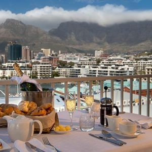 South Africa Honeymoon Packages The Commodore South Africa Champagne Breakfast With View