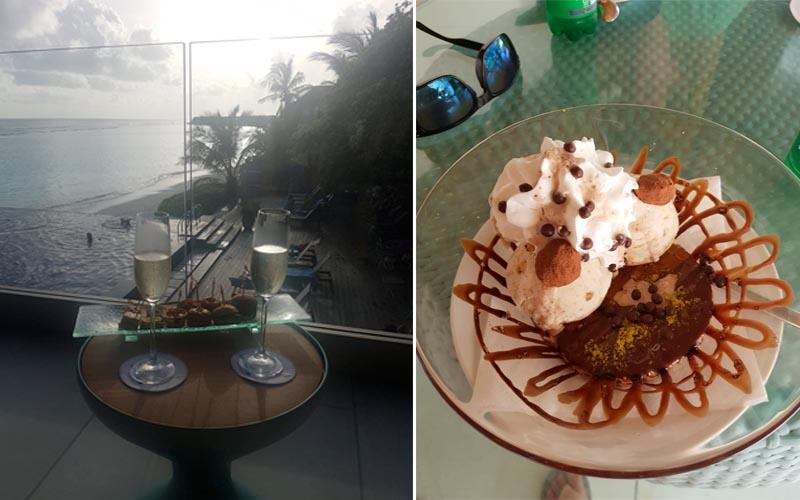Susan And Lee's Fabulous Thailand And Maldives Honeymoon Kuramathi Island Restaurant And Dessert1