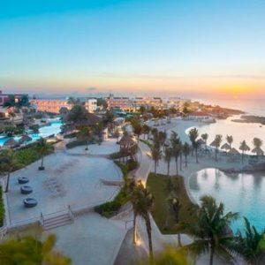 Mexico Honeymoon Packages Hard Rock Hotel Riviera Maya Hotel Exterior At Sunset
