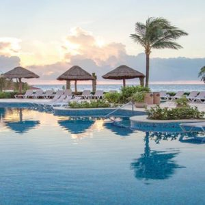 Mexico Honeymoon Packages Hard Rock Hotel Riviera Maya Sunrise Over The Pool