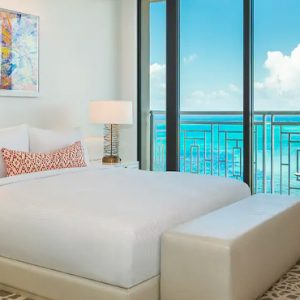 Bahamas Honeymoon Packages Grand Hyatt Baha Mar Two Bedroom Ocean View Residence Vista (East Tower) Bedroom View