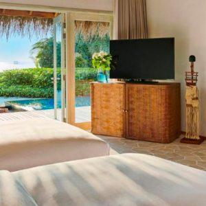 Maldives Honeymoon Packages Fairmont Maldives Sirru Fen Fushi Three Bedroom Beach Sunset Villa 2