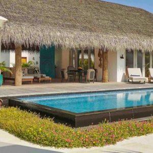 Maldives Honeymoon Packages Fairmont Maldives Sirru Fen Fushi Three Bedroom Beach Sunset Villa