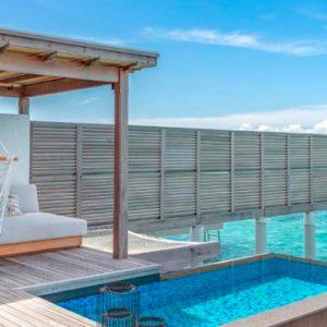 Maldives Honeymoon Packages Fairmont Maldives Sirru Fen Fushi Three Bedroom Water Sunset Villa 3