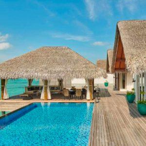 Maldives Honeymoon Packages Fairmont Maldives Sirru Fen Fushi Three Bedroom Water Sunset Villa 4