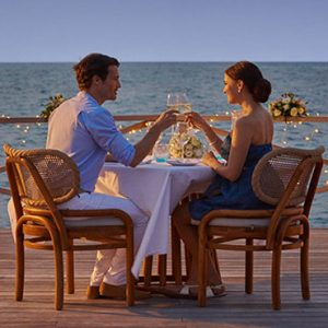 Maldives Honeymoon Packages Fairmont Maldives Sirru Fen Fushi Water Pavillion Romantic Dinner