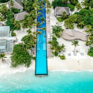 Maldives Honeymoon Packages Fairmont Maldives Sirru Fen Fushi Aerial View Of Pool And Resort