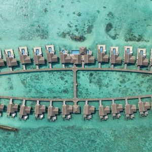 Maldives Honeymoon Packages Fairmont Maldives Sirru Fen Fushi Aerial View Of Water Villas