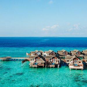 Maldives Honeymoon Packages Fairmont Maldives Sirru Fen Fushi Water Villas Side View