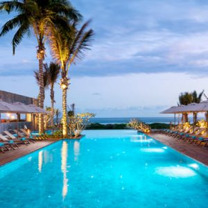 Mauritius Honeymoon Packages Anantara Iko Mauritius Resort & Villas Pool At Night