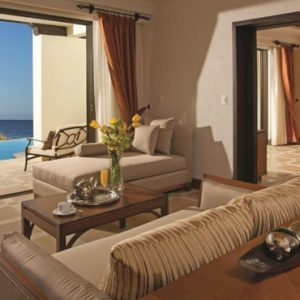 Mexico Honeymoon Packages Secrets Puerto Los Cabos Golf & Spa Resort Master Suite Ocean Front Living Area