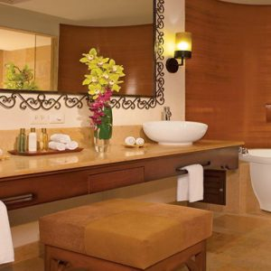 Mexico Honeymoon Packages Secrets Puerto Los Cabos Golf & Spa Resort Master Suite Swim Out Ocean Front Bathroom1