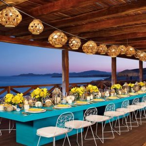 Mexico Honeymoon Packages Secrets Puerto Los Cabos Golf & Spa Resort Wedding Setup Barracuda Deck