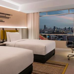 Thailand Honeymoon Packages DoubleTree By Hilton Bangkok Ploenchit Twin Deluxe Room Bedroom
