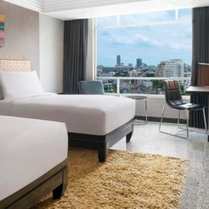 Thailand Honeymoon Packages DoubleTree By Hilton Bangkok Ploenchit Twin Guest Room Bedroom