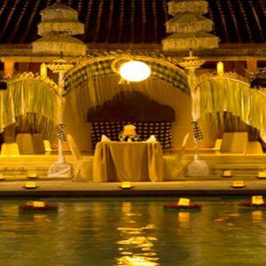 Bali Honeymoon Package Sudamala Suites & Villas Private Romantic Dining At Night