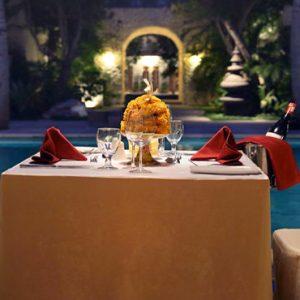 Bali Honeymoon Package Sudamala Suites & Villas Private Romantic Dining At Night1