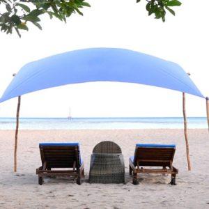 Bali Honeymoon Package Sudamala Suites & Villas Sun Loungers On Beach