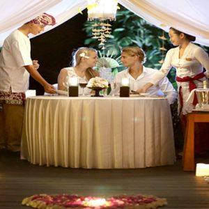 Bali Honeymoon Packages Maya Ubud Resort And Spa Private Dining