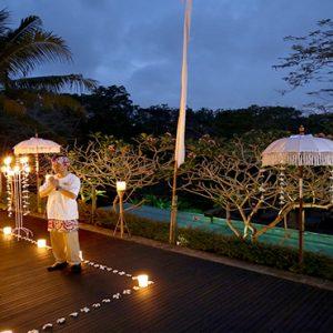 Bali Honeymoon Packages Maya Ubud Resort And Spa Romantic Private Dining