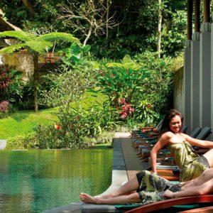 Bali Honeymoon Packages Maya Ubud Resort And Spa Pool Side