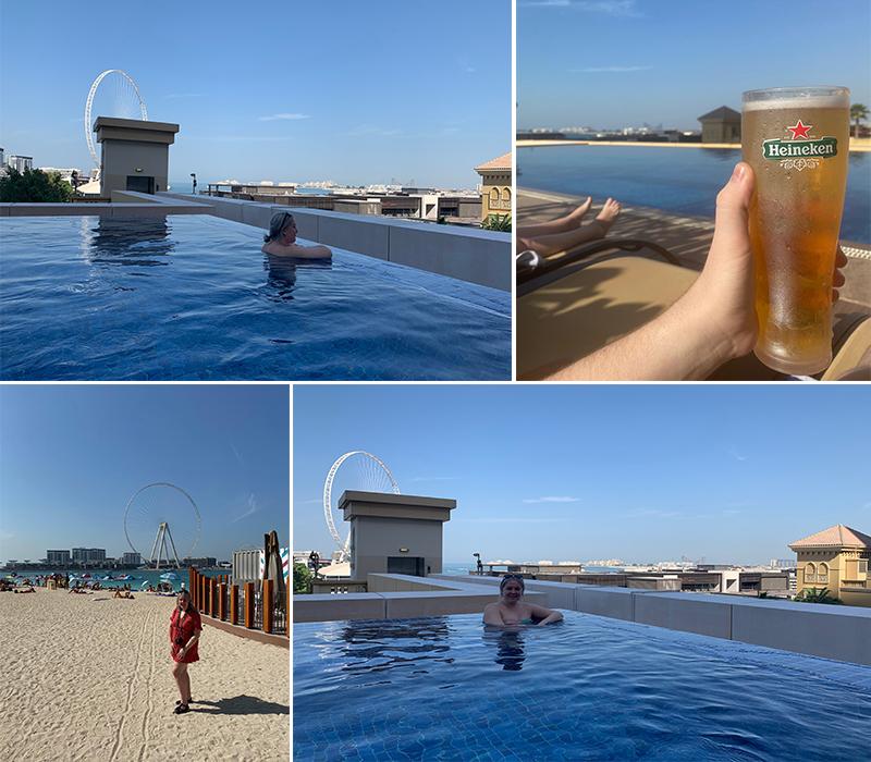 Emily's Mauritius And Dubai Holiday Review Pool And Beach At JA Ocean Hotel Dubai