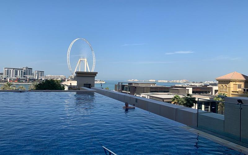 Emily's Mauritius And Dubai Holiday Review Pool At JA Ocean Hotel Dubai